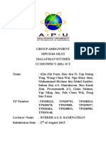 Malaysian Studies Documentation Group 10 2015