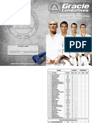 Gracie Combatives Blue Belt Qualification Handbook | Brazilian Jiu
