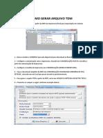 Manual de Geração Do Arquivo TDM