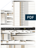 Editable Character Sheet DnD 4th Edition
