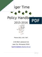 2015-2016 tiger time handbook