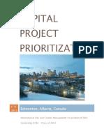 Capstone - Edmonton Capital Project Prioritization