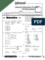 Examen Quincenal (11) 4to Grado 14-09-09