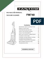 Fantom FM740 Vacuum