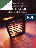 Amster, Fragmentos de Un Discurso Matematico