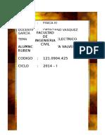 INFORME DE PRACTICA DE LAB N° 02  FISICA III