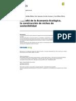 Medellín-Milán Et Al (2011). Más Allá de La Economía Ecológica, La Construcción de Nichos de Sostenibilidad.
