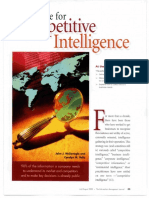 A Case for Competitive Intelligence