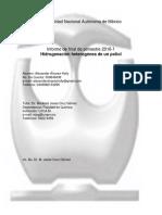 Hidrogenación de un poliol