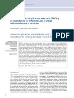 Productos de glicación avanzado y NUTRICIÓN