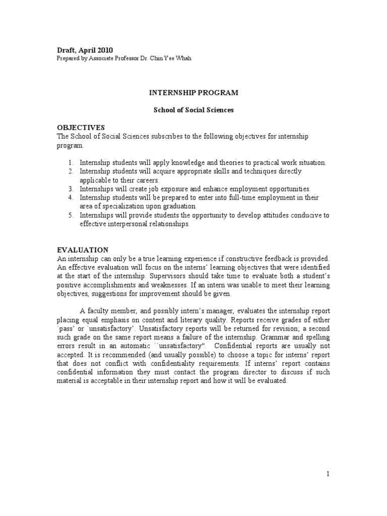 professional placement report sample