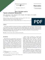 In vitro cytotoxicity studies of 20 plants used in Nigerian antimalarial ethnomedicine