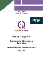 Plan de Trabajo Componentes Educativo y Alimentario_2016_Qali Warma