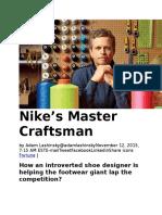 Nike's Master Craftsman