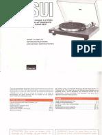 Manual for Sansui Sr-222 en de Fr