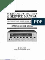 Sansui 1000a service manual