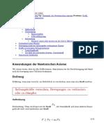 Anwendungen d Newtonschen Axiome