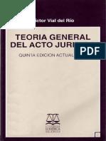 Teoria General Del Acto Juridico - Victor Vial