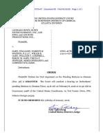 Leonard Rowe v. Willie Gary et al. (15 Civ. 0770) -- Judge Amy Totenberg's Order Granting Motion for Oral Argument [January 12, 2016]