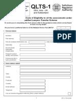 QLTS1 Form