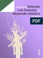 Pecda Programa de Estimulos a La Creacion 2016 Convocatoria
