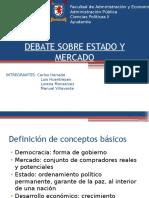 Debate Sobre Estado y Mercado