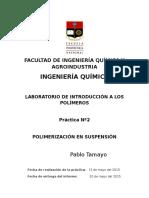Polimerización en Suspensión P2
