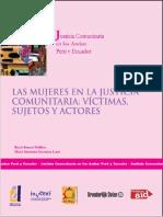 Rocío Franco y Maria Alejandra González Las Mujeres en La Justicia Comunitaria