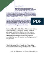 Arguments Against Prejudicial Questions