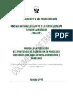 Manual de Apliación de Protocolo de Actuación Jurisdiccional Con Pertinencia Cultural Para Comuneros y Ronderos