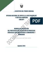 Manual de Apliación de Protocolo de Actuación Jurisdiccional Con Pertinencia Cultural Para Funcionarios Judiciales