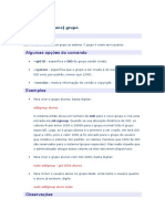 Comandos Addgroup Linux