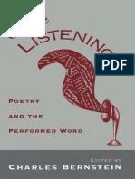 [Charles Bernstein] Close Listening