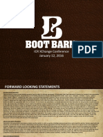 BOOT Jan 2016 Investor Presentation
