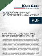 KONA Jan 2016 Investor Presentation