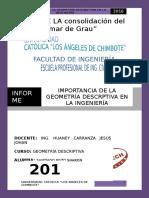 Informe Nº 01... Importancia de La Geometría Descrptiva en La Ing.