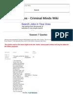 Season 7 Quotes - Criminal Minds Wiki
