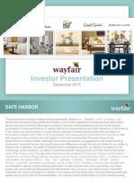 W Wayfair 2015 Investor Presentation