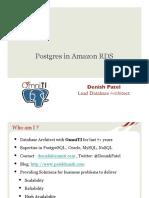 315_Postgres in Amazon RDS