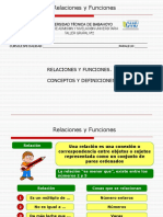 Relaciones y Funciones 2