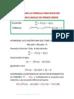 Justificación Formula de Las Ecs Lineales