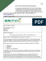 Britvic Identifying Eliminating the Hidden Unsafe Behaviours