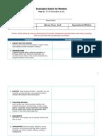 Evaluation Rubric for Mentors