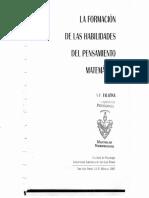 10. La Formación de Las Habilidades Del Pensamiento Matemático. n. f. Talizina