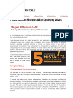 5 Most Common Mistakes When Specifying Valves