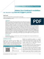 Comparison Between Four Treatment Modalities for Active Myofascial Triggers Points