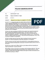 Waukesha PD Federal Lawsuit Internal Investigation