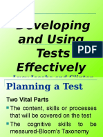 Developing and Using Test Effectively