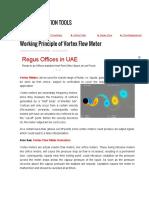 Working Principle of Vortex Flow Meter