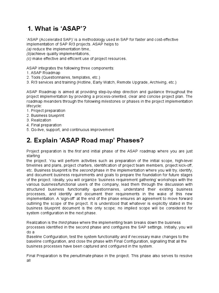 Interview questions and answers for sap project implementation interview questions and answers for sap project implementation business process implementation malvernweather Gallery